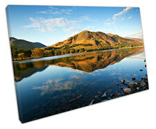 LAKE DISTRICT BUTTERMERE CANVAS WALL ART PICTURE LARGE 75 X 50 CM