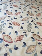 MASSIVE REMNANT SoftFurnishing Fabric - Approx 129 X 143cm Embroidered Leaf