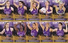 Queensland Firebirds 2018 Super Netball Team 10 Card Set