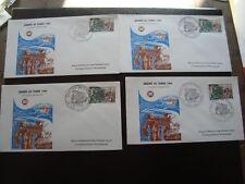 FRANCE - 4 enveloppes 1er jour 15/3/1969 (journee du timbre) (B15) french