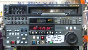 Sony dvw-500p digi beta pal recorder (2257 drum hours)