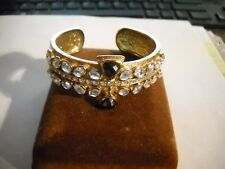 "~Melinda Maria ""Hawthorne"" Gold Plated Lapis Labradorite CZ Cuff Bracelet~"