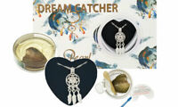 Dream Catcher Cage Pendant Love Wish Pearl Kit Culture Pearl Oyster Necklace Set