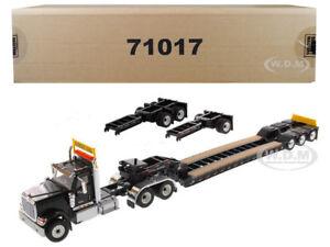 INTERNATIONAL HX520 BLACK XL 120 LOWBOY TRAILER 1/50 BY DIECAST MASTERS 71017