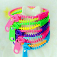 10pcs Zipper Bracelet Fidget Toy Kids Children Sensory Focus Toys Stress Relief