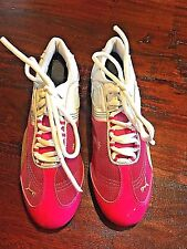 PUMA Ring Trainers Womens Hot Pink & White Sports Shoes Footwear Sz 8