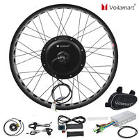 "26""1000W Fat Tire Electric Bike Rear Wheel Bicycle Conversion Kit Hub Motor 48V"