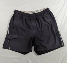 Vintage Nike Gray Tag Black Nylon Shorts Swim Trunks Mesh Lined Men's M Rare