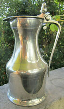 """VINTAGE COLLECTIBLE 24 OZ ETAIN LEGAL FRENCH LIDDED PEWTER 8 1/4"""" PITCHER MINT"""