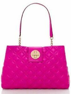 Kate Spade New York Astor Court Elena Shoulder Bag Purse In Hot Fushia Pink $458