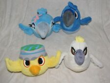 Angry Birds Rio Stuffed Plush Set Lot 4 Ball Nico Blu Jewel Nigel 5""