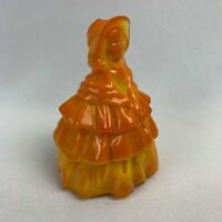 Boyd Art Glass Louise Doll Figurine - Persimmon