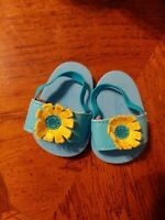 American Girl Bitty Baby Sunflower TEAL SANDALS ONLY from Twins Beach Fun Outfit