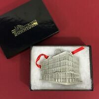 Milwaukee Festival of Lights Iron Block Building Pewter Christmas Ornament new