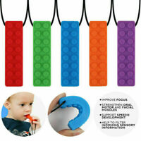 Kid Creative Toy For Autism ADHD Sensory Chew Silicone Necklace Pendant Teething