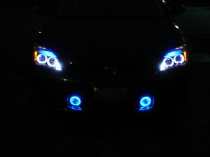 White Angel Eye Halo Fog Lamps Lights Kit for 2005-2010 Scion tC