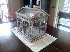 """large terrarium """"real metal Glass & wood"""