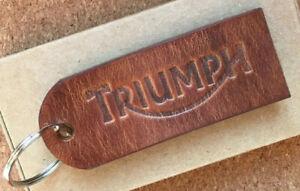 Handmade Custom Leather Key Ring / Tag - Triumph Bonneville Scrambler Bobber