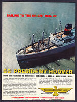 1958 SS President Hoover Ship photo American President Lines vintage promo ad