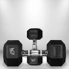 37.5kg Hex Dumbbell Set Rubber Encased Ergo Weights Hexagonal Dumbbell Gym Weigh