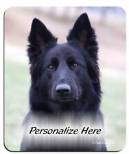 German  Sheperd   black ( 49 )   Personalized  Mouse Pad