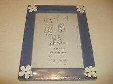 Daisy White Flowers blue wooden photo frame