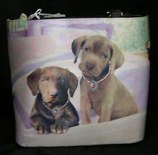 Twin Chocolate Labs Purse Handbag New Dog Picture Purse
