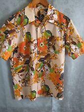 Vintage 60's Royal Islander Hawaiian Style Shirt Size Medium Textured Polyester