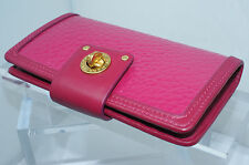 Marc by Marc Jacobs Totally Turnlock Flap Wallet Pink Leather Bag NWT