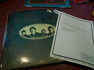THE BEATLES LOVE SONGS 2 LP PROMO STAMP WITH WON LETTER FROM RADIO STATION 1983