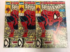 3 Copies Of Spider-Man (1990)(Green) # 1 Todd Mcfarlane (NM)
