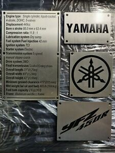 2014-2020 Yamaha YFZ450R Fenders Warning Tags Custom Replacement