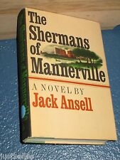 THE SHERMANS OF MANNERVILLE by Jack Ansell HC/DJ 1st (1971) book