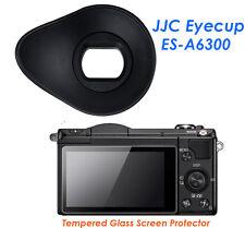 JJC ES-A6300 Silicagel Oval Eyecup+ Glass LCD Screen Protector Sony A6300 A6000