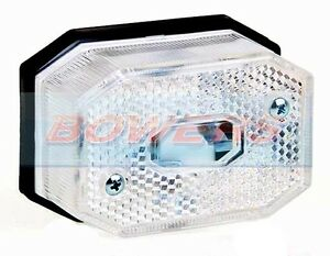 WHITE FRONT MARKER LIGHT LAMP FOR IFOR WILLIAMS BRIAN JAMES TRAILER AS ASPOCK