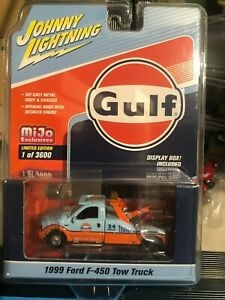 1/64 JOHNNY LIGHTNING 1999 FORD F-450 TOW TRUCK GULF OIL MIJO EXCLUSIVES