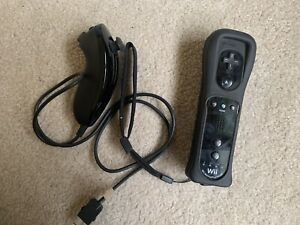 Nintendo Remote Plus Wii Motion Controller With Nunchuck Tested Works Great OEM