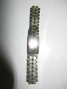VINTAGE BULOVA ACCUTRON  SILVER/GOLD  COLOR STAINLESS STEEL BAND FOR WATCHES