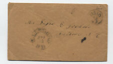 1850s Hillsboro NH stampless cover paid 3 in circle rate [4606.4]