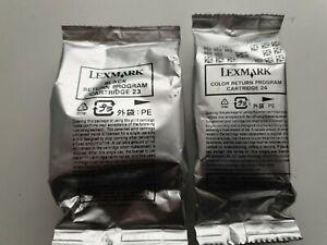 Lexmark 23 Black & Lexmark 24 Colour Genuine - X3430, X3500, X4500, Z1400 Series