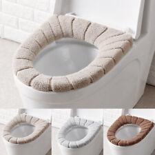 Bathroom Toilet Seat Cover Soft Plush Washable Winter Warmer Mat Pad Cushion