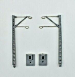 10 Paar Hobbex Oberleitungsmaste Leiter - N - DB, DR, 2. Wahl, mit Grundträger