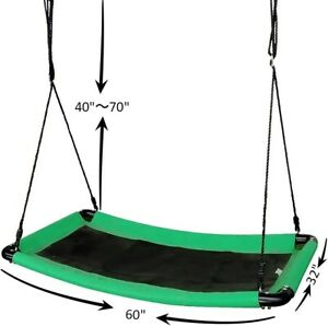 Jump Tastic 60in Swing Platform Giant Curved Swing for 6Kids Loaded 500lbs