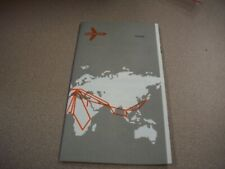 Swissair Route Map 1971 Great Reference Airlines