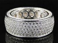 10k White Gold Finish 1.40 Carat Diamond Round Cut Wedding Men/'s Pinky Ring 5 6