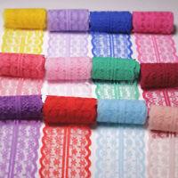 10 Yards Lace Trims Floral Ribbon Net DIY Dress Trimming 4.5cm Embellishments