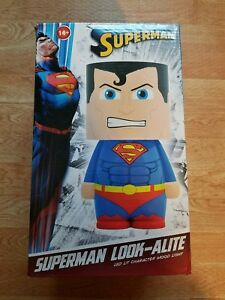 "New Superman LED Lamp Look-Alite 9"" Mood Light Table Lamp DC Comics - (USB/AAA)"