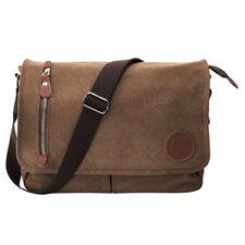 fdcf73dfbc Men s Handbag Retro Briefcase Messenger Canvas Shoulder Satchel Bags Coffee