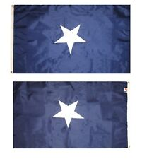 3x5 Embroidered Southern States Bonnie Blue Civil War 300D Nylon Flag 3'x5'