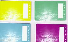 Set of 4 Blank Norwegian Cruise Line Room Key / Account Cards